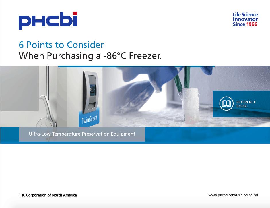 Thumbnail PHCbi 6 Points to Consider when Purchasing a -86°C Freezer
